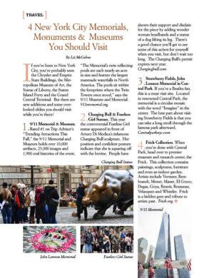 4 New York City Memorials, Monuments & Museums AL0824