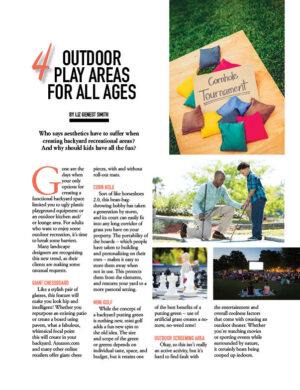 4 Outdoor Play Areas For All Ages HGD0510