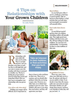 4 Tips on Relationships with Your Grown Children