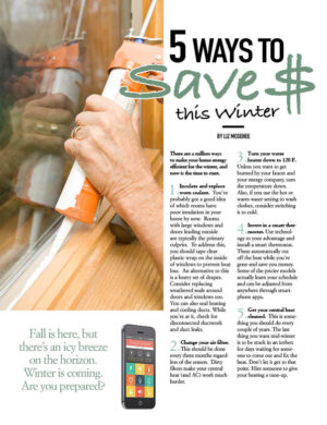 5 Ways To Save $ This Winter HGD0712