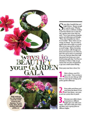 Fox content Home and Garden Decorator magazine article 8 Ways To Beautify Your Garden Gala HGD0120