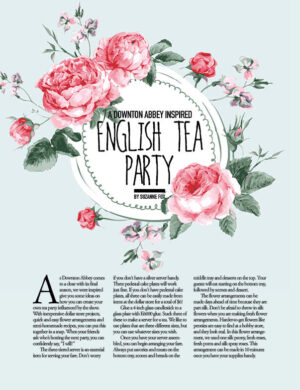 A Downton Abbey Inspired English Tea Party HGD0320