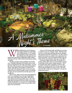 A Midsummer Night's Theme HGD0616 Fox content Home and Garden Decorator magazine article