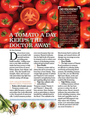 A Tomato A Day Keeps the Doctor Away AL0512