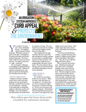 An Irrigation System Improves Curb Appeal And Protects The Environment HGD0906