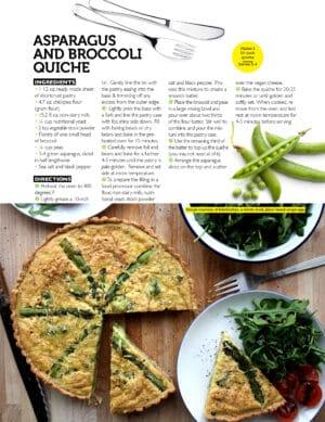 Asparagus and Broccoli Quiche