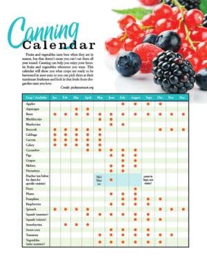 Canning Calendar HGD0236