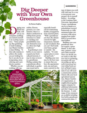 Dig Deeper with Your Own Greenhouse AL0405
