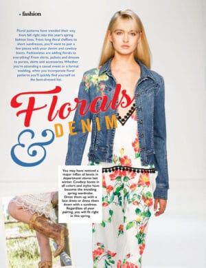 florals and denim