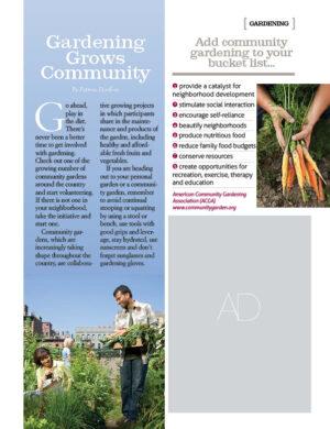 Gardening Grows Community