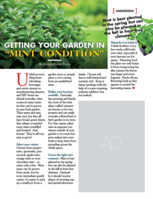 Getting Your Garden In Mint Condition AL1005