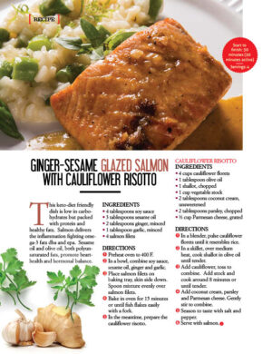 Ginger-Sesame Glazed Salmon With Cauliflower Risotto AL1014