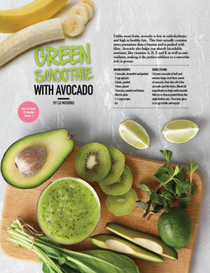 Green Smoothie With Avocado HGD0910