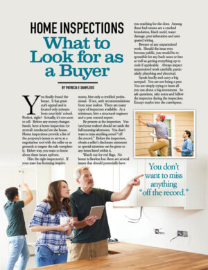 Home Inspections What To Look For As A Buyer HGD0624