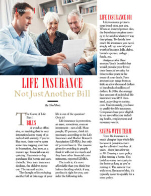 Life Insurance Not Just Another Bill AL1122 Fox content Active Living magazine article