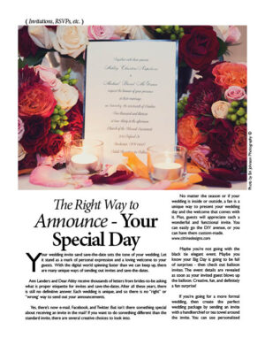The Right Way To Announce - Your Special Day FB0120