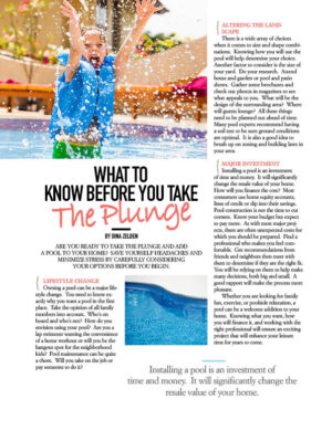 What To Know Before You Take The Plunge HGD1310