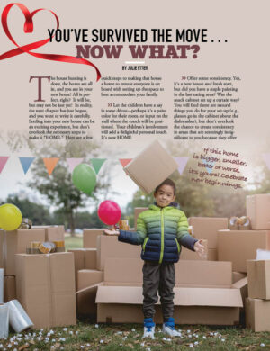 You've Survived The Move...Now What? HGD1320