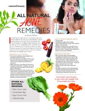 natural acne remedies
