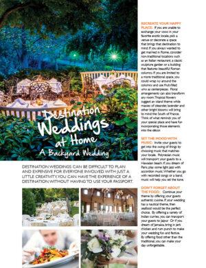 Destination Weddings At Home A Backyard Wedding FB0334