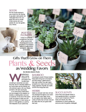 Gifts That'll Grow On Them - Plants And Seeds As Wedding Favors FB0442