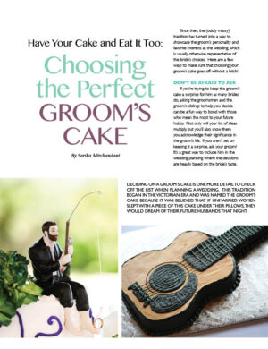 Have Your Cake And Eat It Too - Choosing The Perfect Groom's Cake FB0534