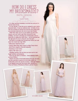 How Do I Dress My Bridesmaids? FB0842