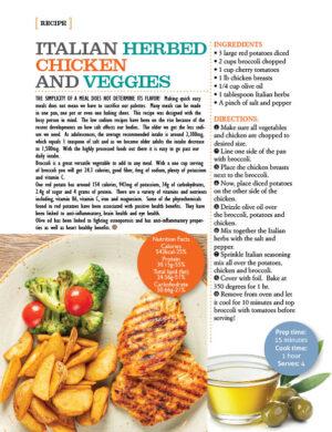 Italian Herbed Chicken And Veggies AL1314