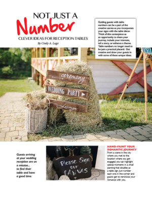 Not Just A Number - Clever Ideas For Reception Tables FB0412