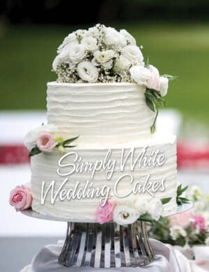 Simply White Wedding Cakes FB0820