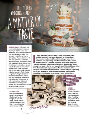 The Modern Wedding Cake - A Matter Of Taste FB0414