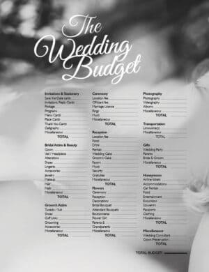 The Wedding Budget FB0238