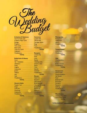 The Wedding Budget FB0338