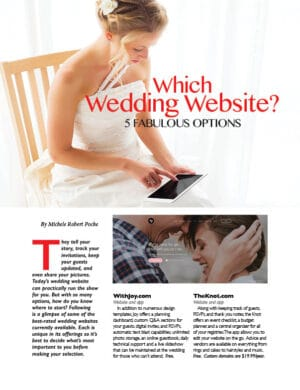 Which Wedding Website? 5 Fabulous Options FB0406
