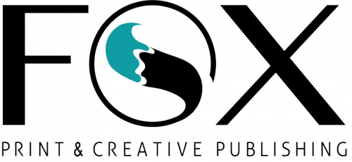 Fox print and creative publishing content site logo teal image